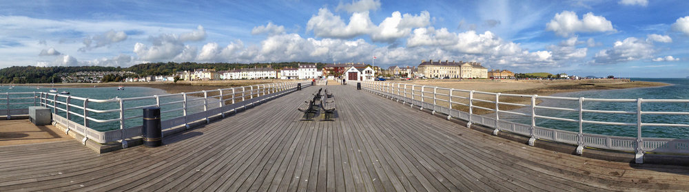 iPhone panoramic of Beaumaris Pier, North Wales by Adrian McGarry shot on iPhone ©Adrian McGarry.