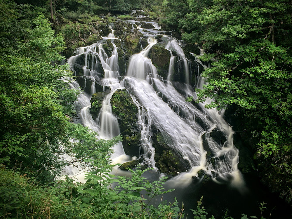 Swallow Falls in Snowdonia.