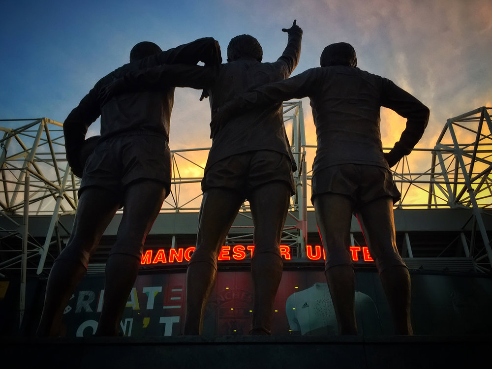 Manchester United Trinity. Create silhouettes © Adrian McGarry