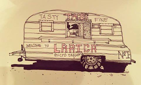 Isn't this drawing of the Little Taco Trailer that Thinks it Can cool?