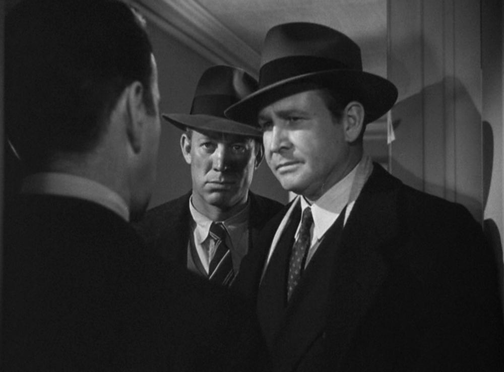 Ward Bond and Barton MacLane as straight-arrow cops in  The Maltese Falcon  (1941)