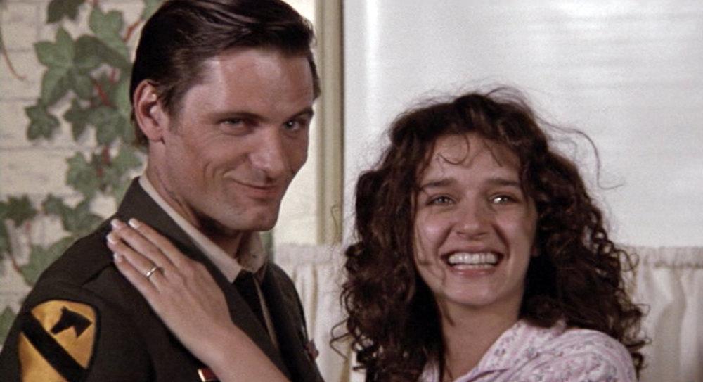 Frankie (Viggo Mortensen) returns home from Vietnam and is greeted by Joe's wife Maria (Valeria Golino)