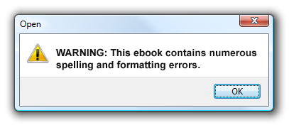 Readers of your books could soon see error messages like this one. Are you doing everything you can to make sure your books are Kindle compliant?