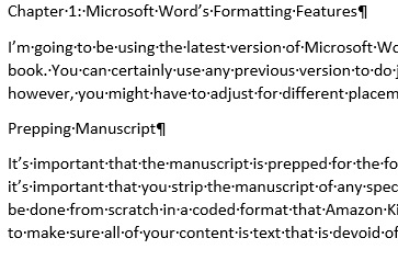 You should be able to see all hidden formatting features after clicking the paragraph symbol.