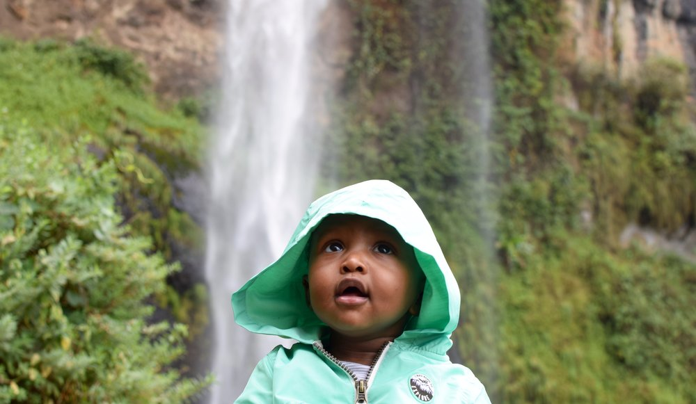 Elijah's first time visiting Sipi Falls in Kapchorwa, Uganda