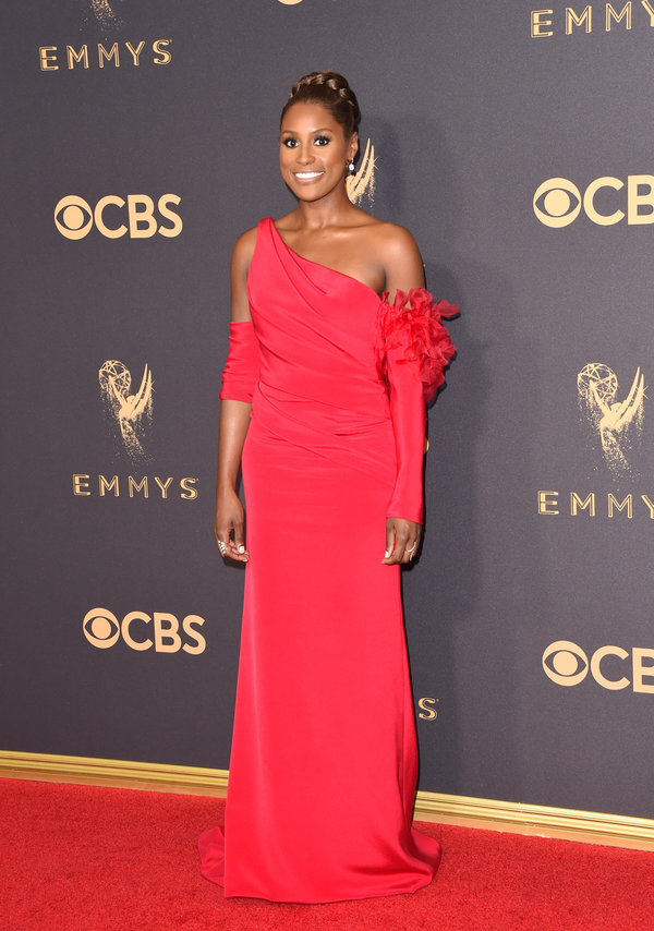 Issa Rae - Issa's formal styling isnt always my favorite, but I love the red on her.Hair and makeup is on point, as always!