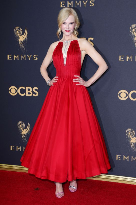 Nicole Kidman - Apple Red on pale skin is a beautiful combination and Nic did not come to play!