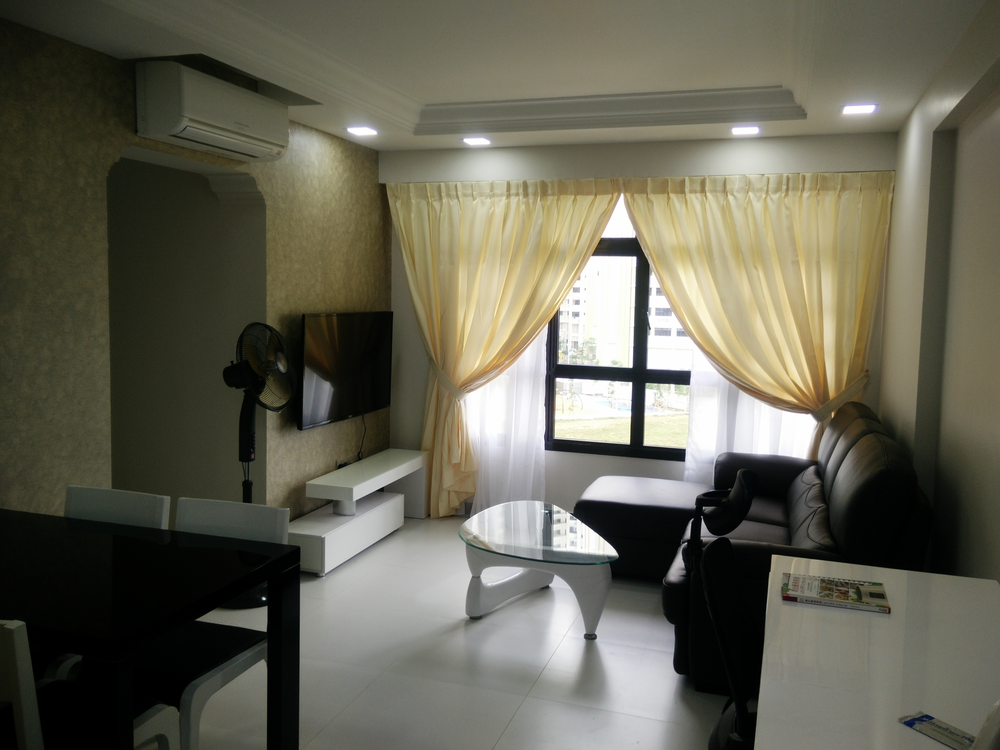 Basic elements for hdb bto 3 rm flat jadier for Simple modern interior