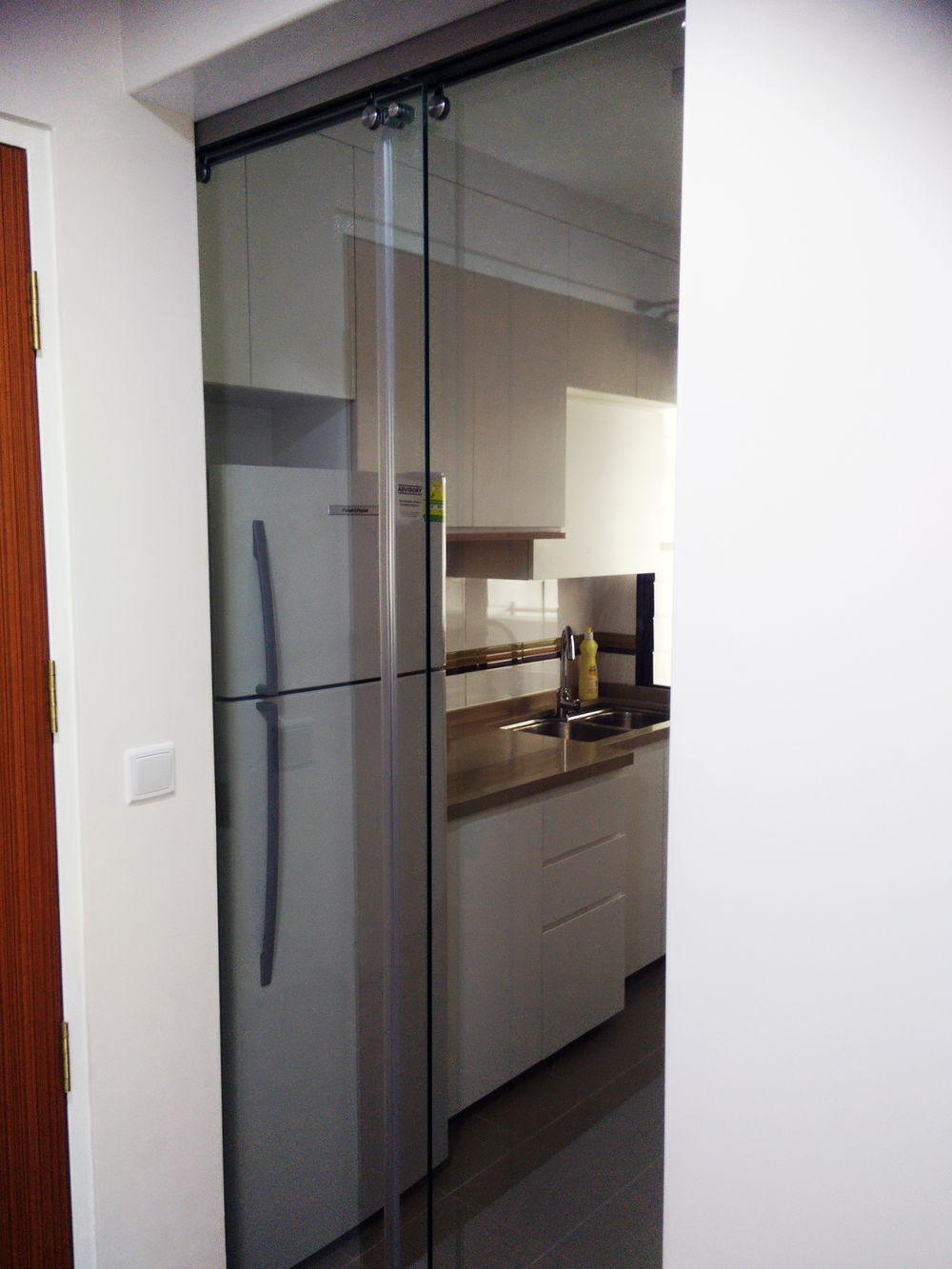 Basic elements for hdb bto 3 rm flat jadier for Sliding glass doors kitchen