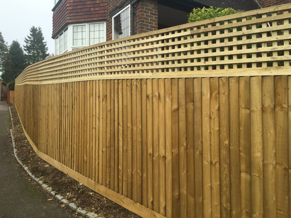 Wooden Fence Boundary Image