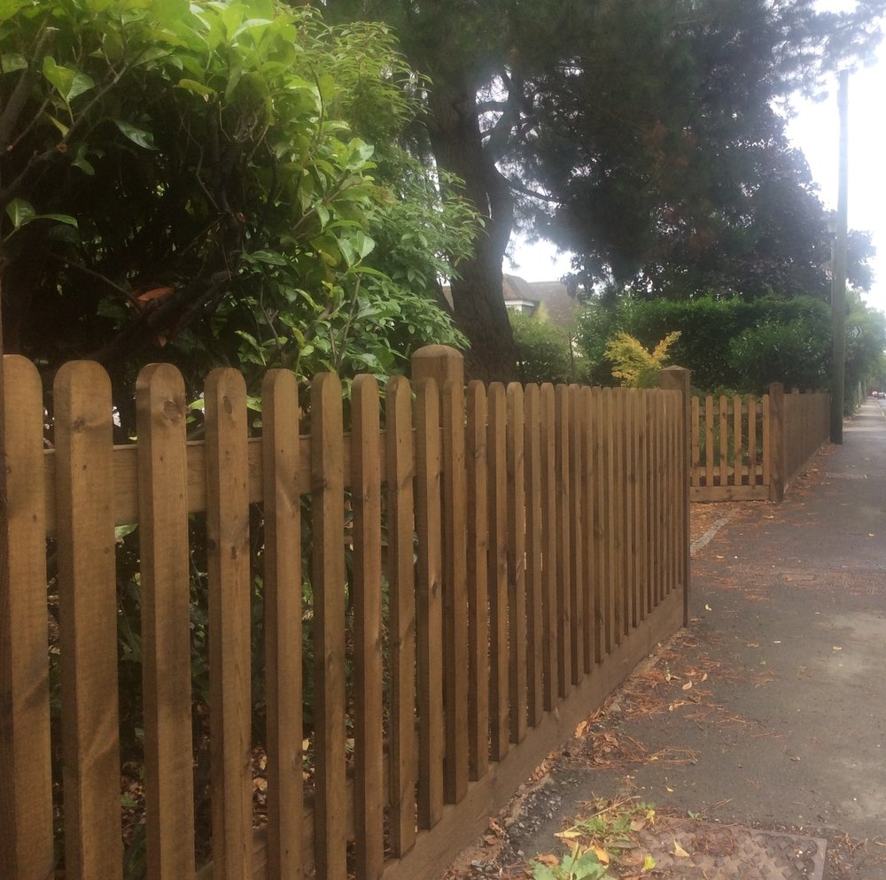 Picket Fence Boundary Photography