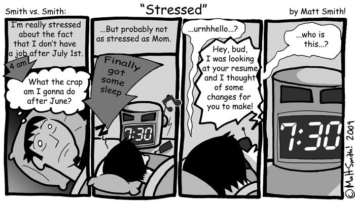 "The original ""Stressed"" in all its Comic Sans glory."