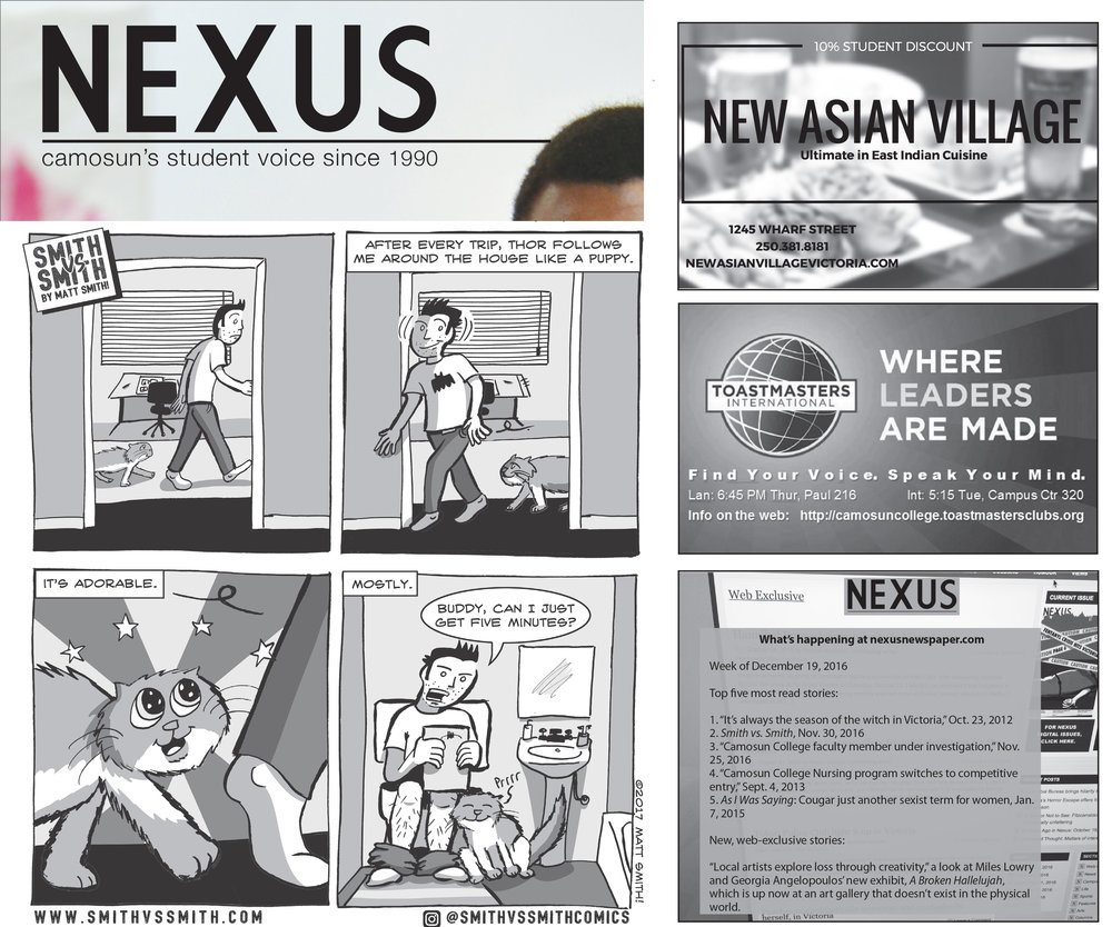 Comics in Nexus Newspaper