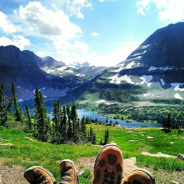 Dave and Tess visiting Glacier National Park and making me want to go back there right this second.