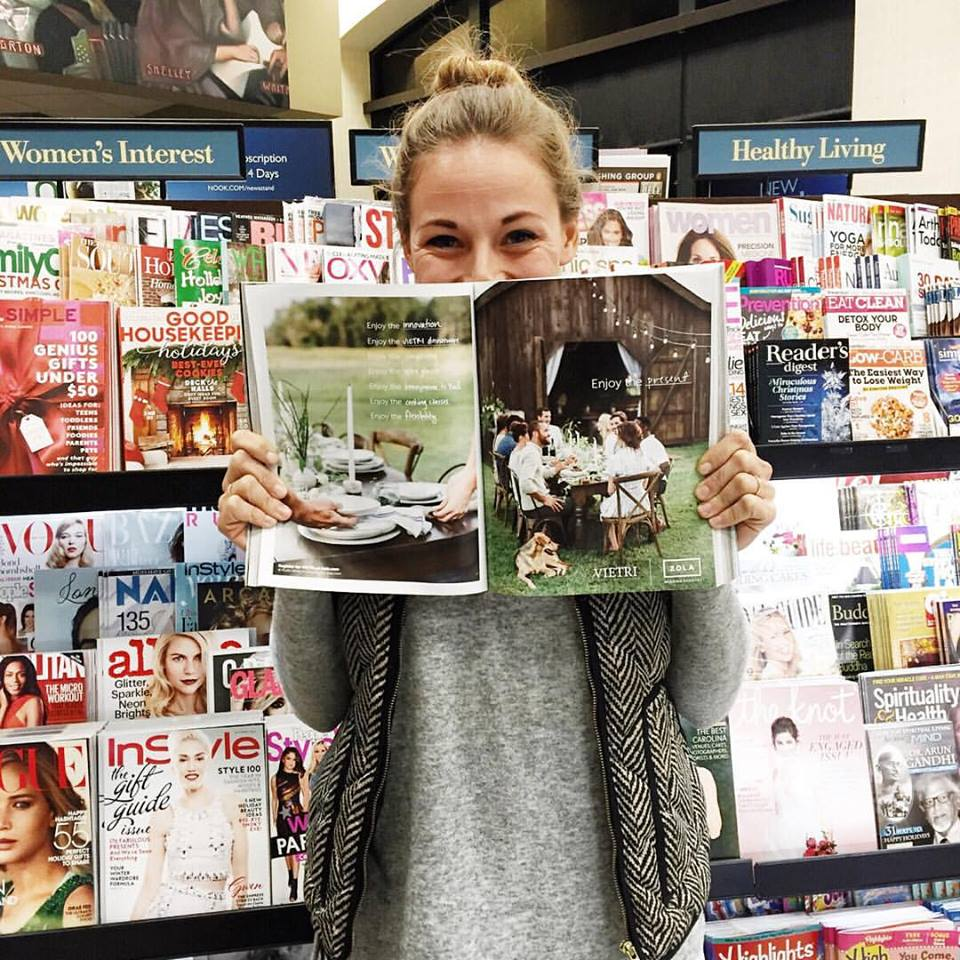 Candice celebrating some of her work in a real deal magazine! You go, girl!