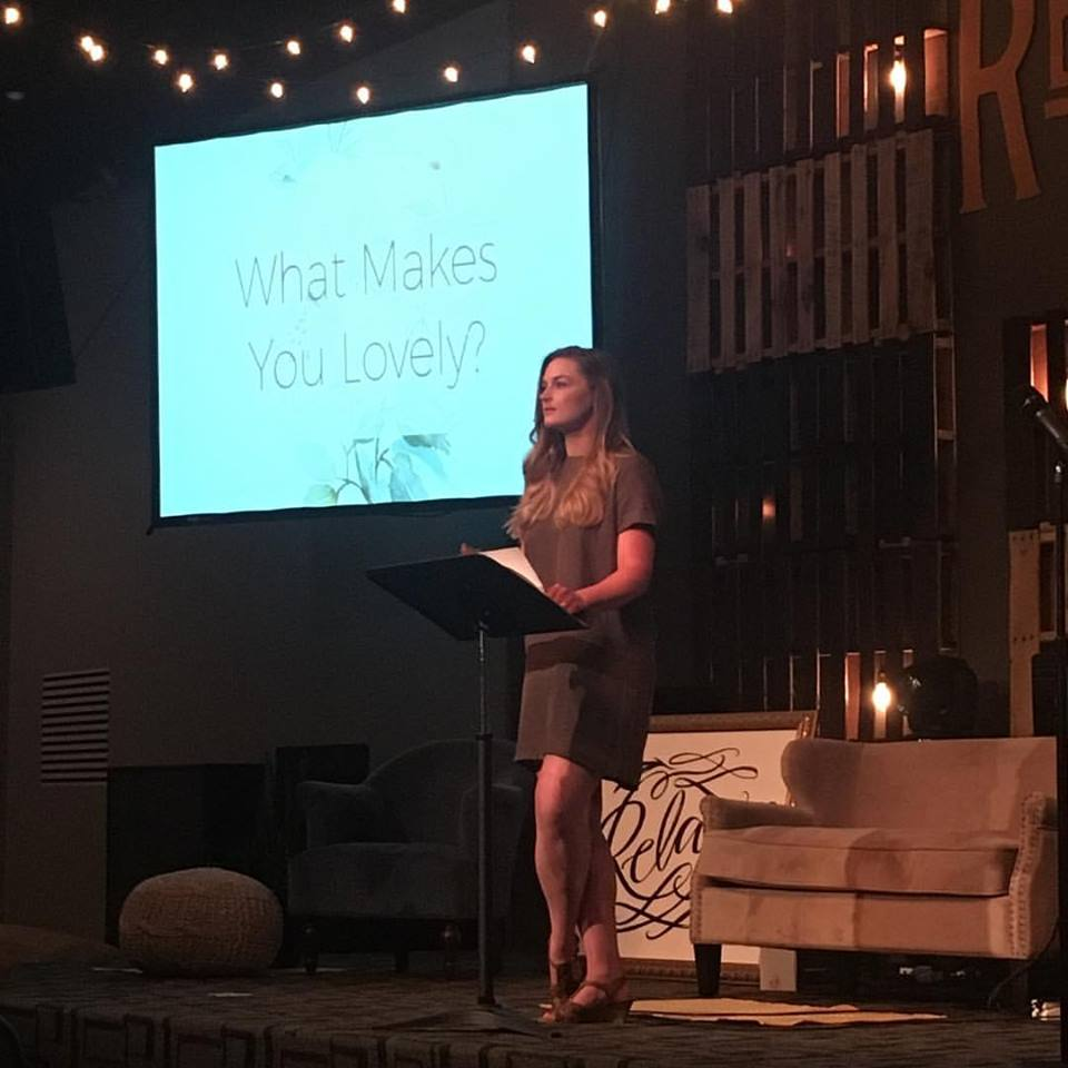 Ashley sharing her wisdom at the  Cultivating Lovely  conference.