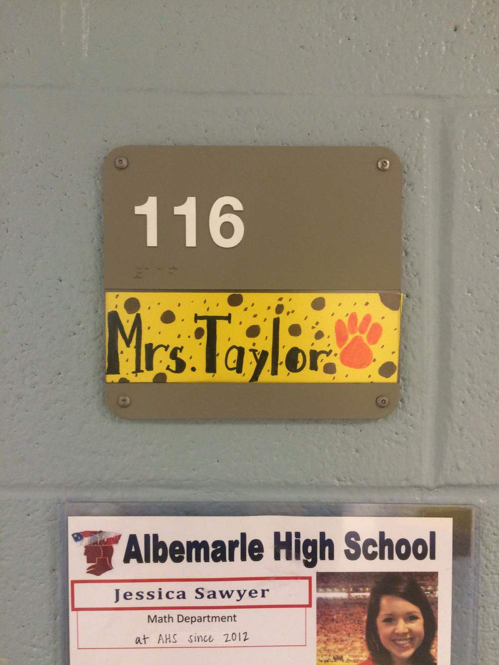 Jessica's students surprised her with a new nametag to match her new married last name. :)