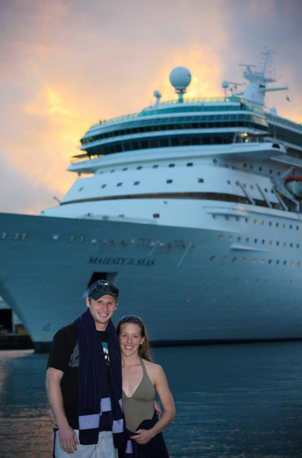 Calvin and Sarah on the cruise we took back in medical school to celebrate the end of Step 1 (a horrible, horrible test).
