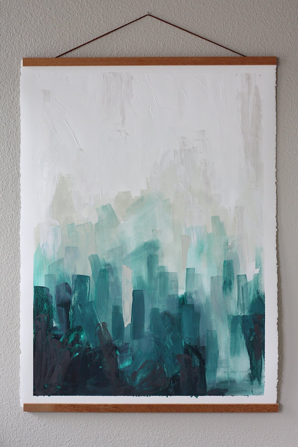 Lindsay Gilmore Original Abstract Art Constraints Series Forest Park 22x30 on paper.JPG
