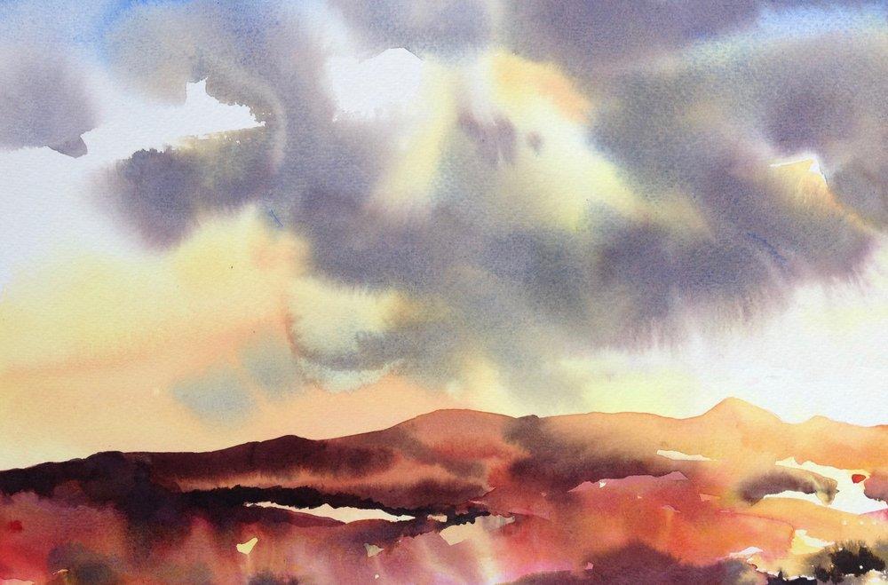 Evening Sun Over Ben Lomond  - sold