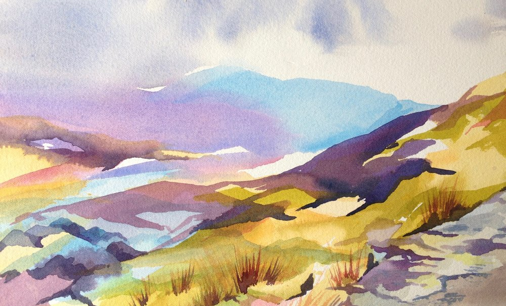 Clouds Lifting Over Rob Roy Way - sold