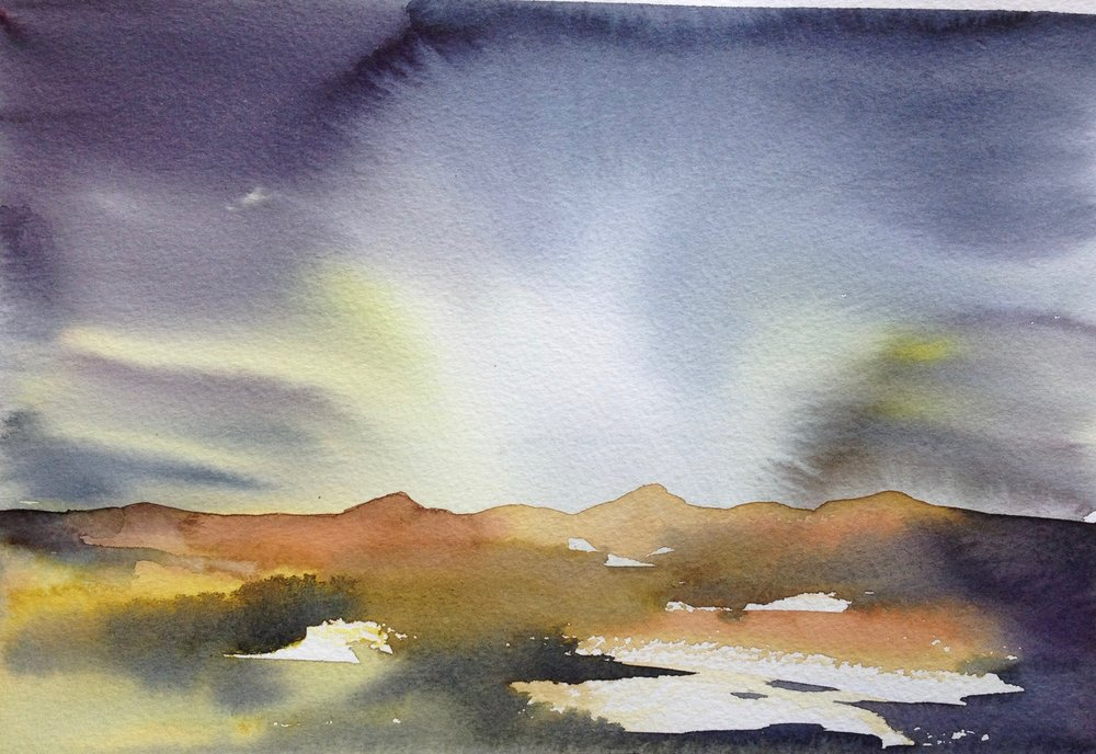 Evening Walk Looking Towards Ben Lomond - sold