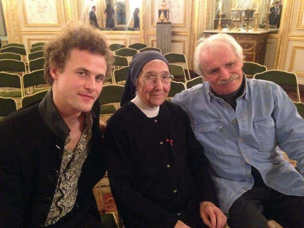 with Soeur Marguerite and Yann Arthus-Bertrand