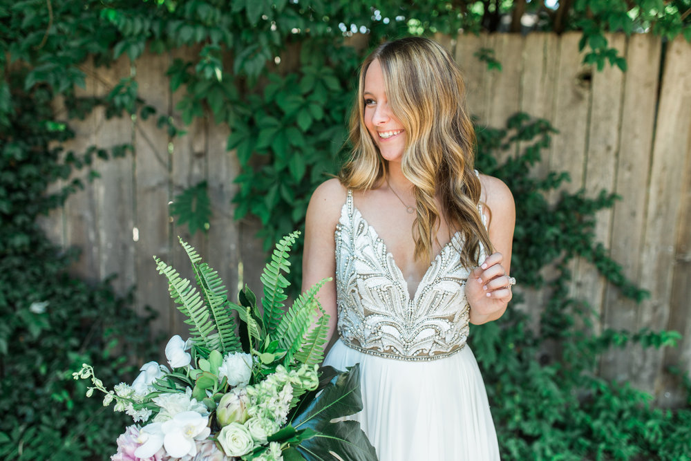 12afeb16c57 The full circular chiffon skirt adds just a little extra fun to this flowy  gown! It is so light and airy making it perfect for an outdoor or beach  wedding!