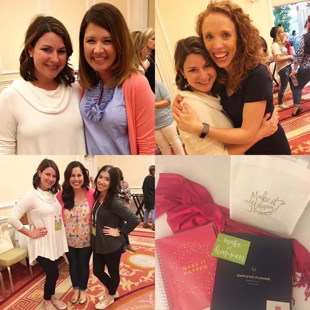 Amazing small group leaders Emily Ley + Amber Housley, sweet Lara, and MTH goodies!
