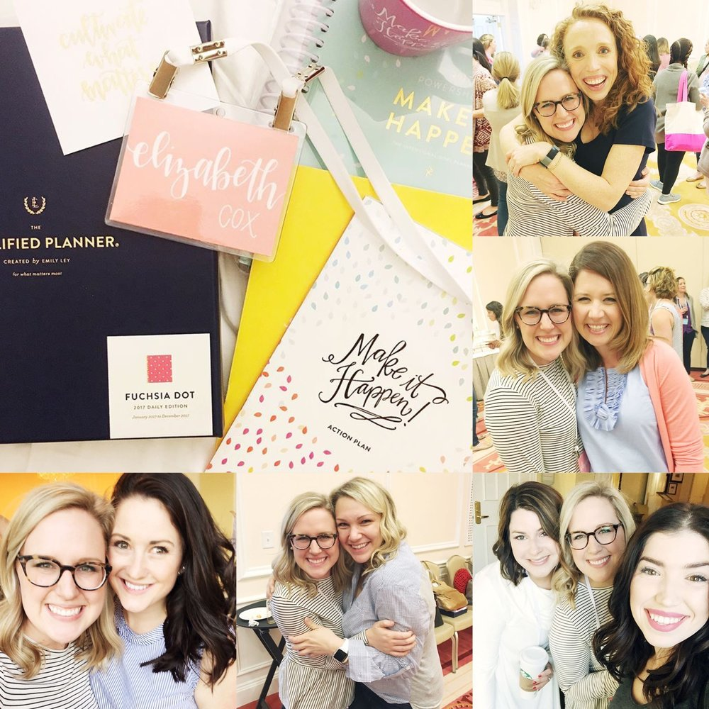 My incredible small group leaders Rhiannon Bosse + Gina Ziedler, getting to squeeze Lara Casey + Emily Ley, sweet MTH goodies, and experiencing it all with my fave gals!