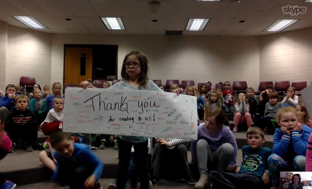 I got even more love from the great kids at West Salem Elementary, in West Salem, WI. THANK YOU!