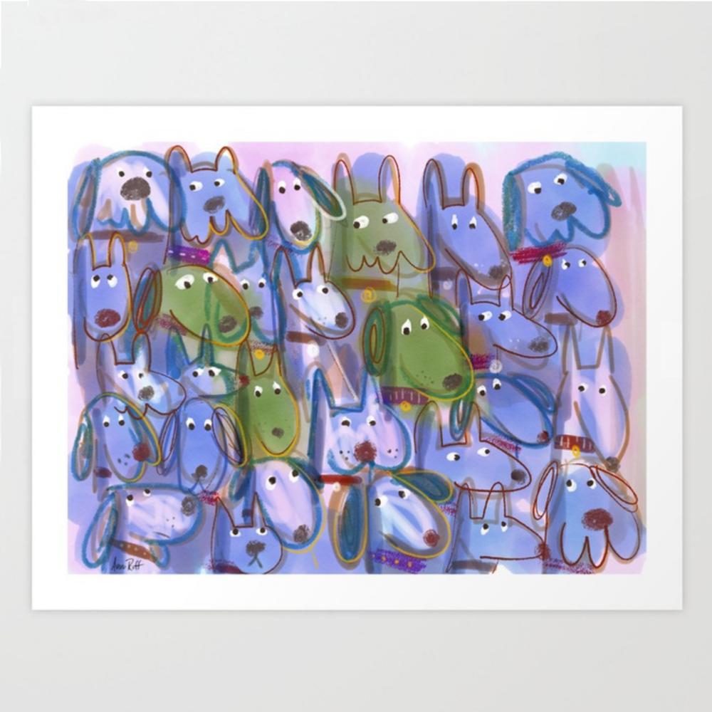 Woof Pack print