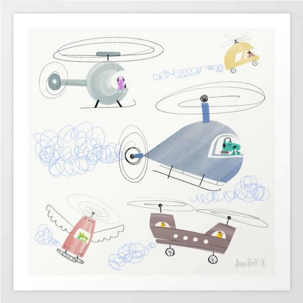 Flying Machines print