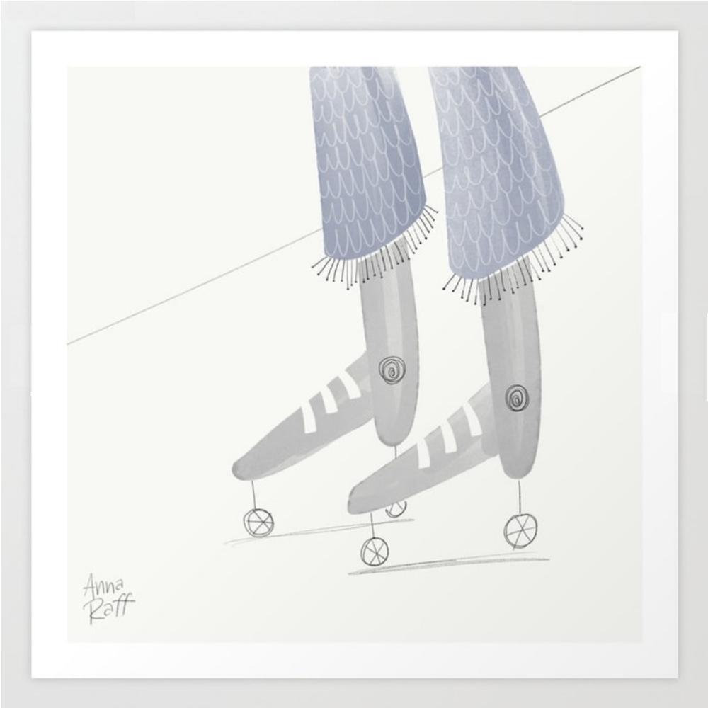 Roller Skates print