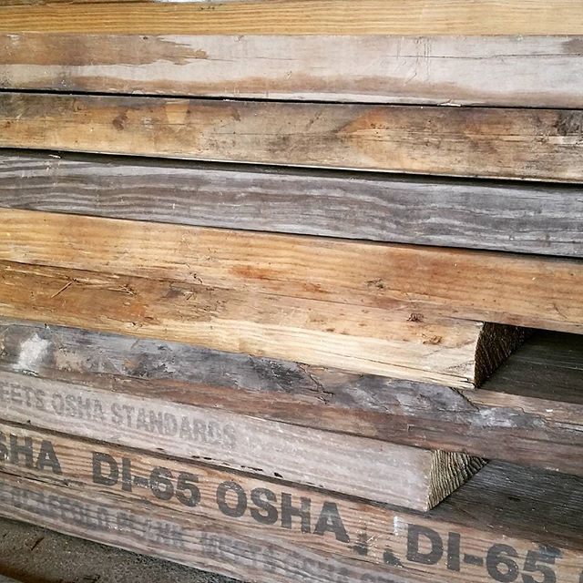 New old boards ready for their second life.  #reclaimedwood #madeinnyc