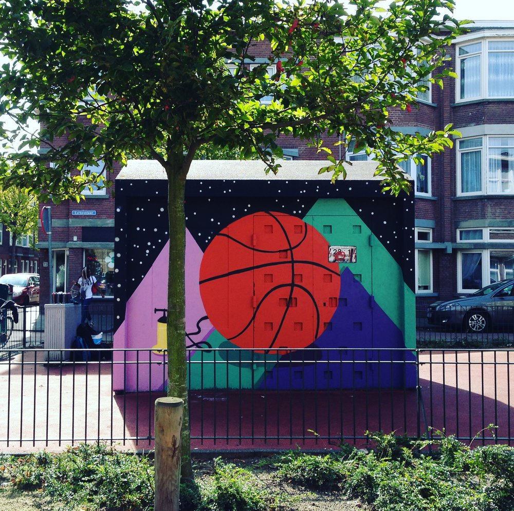 Space Ball |The Hague Street Art - Eerbeeklaan, Den HaagSummer 2017