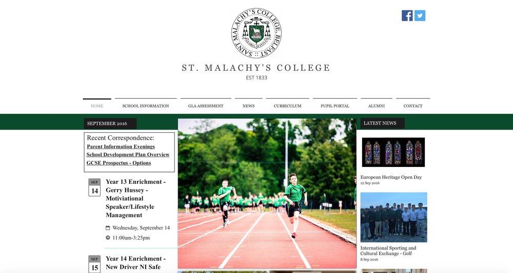 St. Malachy's College, Belfast -Website