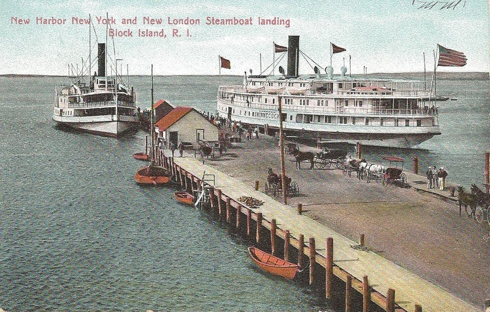 STEAMSHIPS AT BLOCK ISLAND