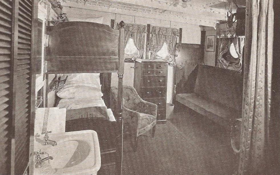 STEAMSHIP CABIN INTERIOR - 1912