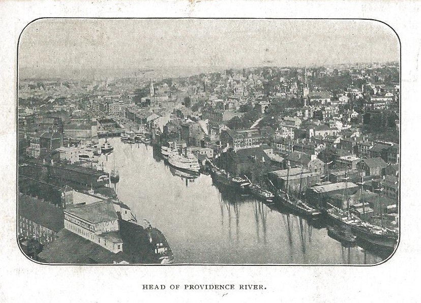 STEAMSHIPS AT DOCK IN PROVIDENCE - 1899