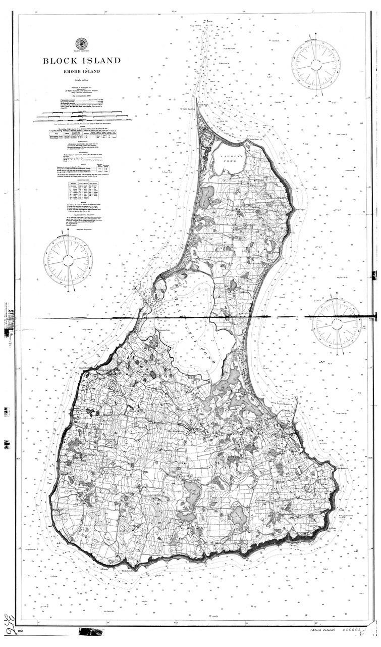 BLOCK ISLAND MAP - 1900