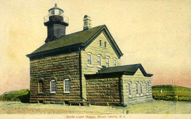 BLOCK ISLAND NORTH LIGHT HOUSE - 1907