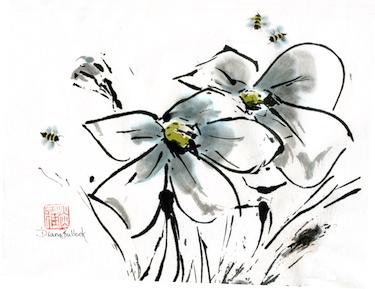 Three bees a buzzin (C) Diana Bullock