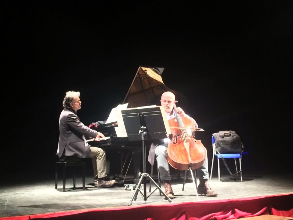 The World Premiere of 'Fluendo', with Nicola Fiorino (cello) and Giampaolo Nuti (piano)