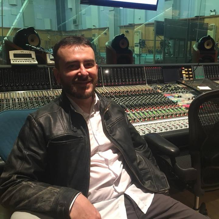 Vito Palumbo,  in the Studio 1 of the Abbey Road Studios.