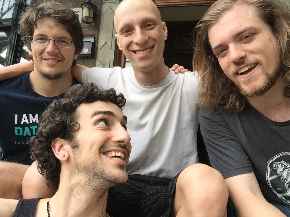 From left to right: Martin Weiss, Jonathan Dupre, David Zangwill, and David Hernon.