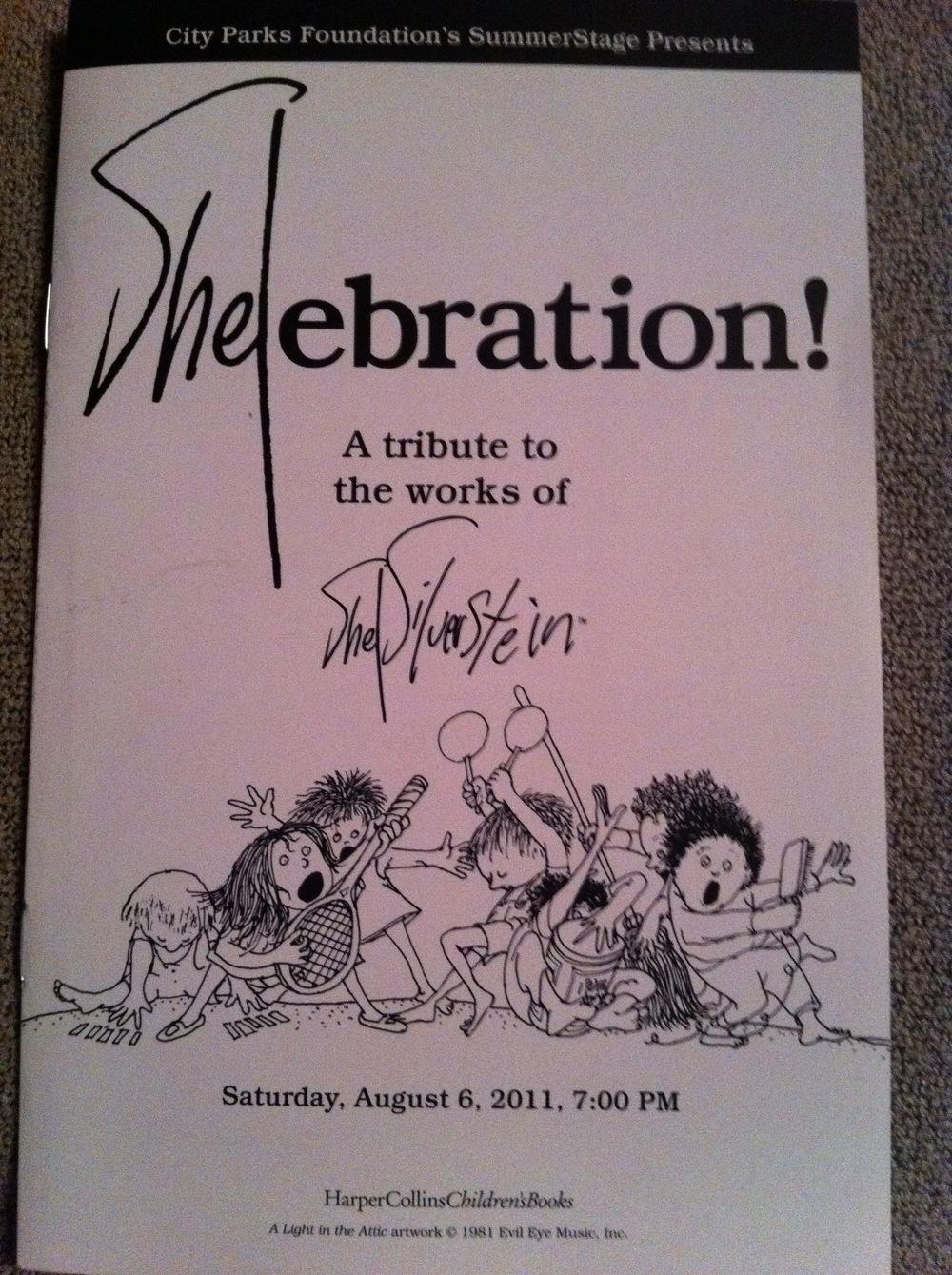 Creator and Co-producer of SHELebration! a major Tribute to the writing, art and music of Shel Silverstein att Central Park SummerStage, NYC.