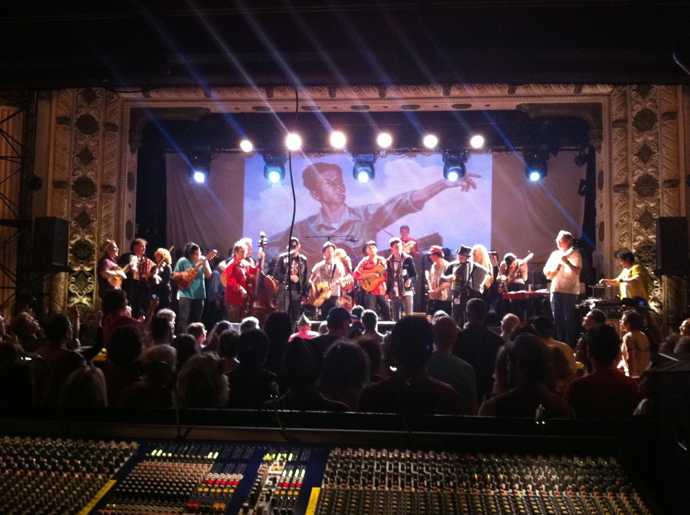 Production and Management for Woody Guthrie Centennial All-Star Tribute at Metro Chicago. Produced by Porta Luz/HotHouse.