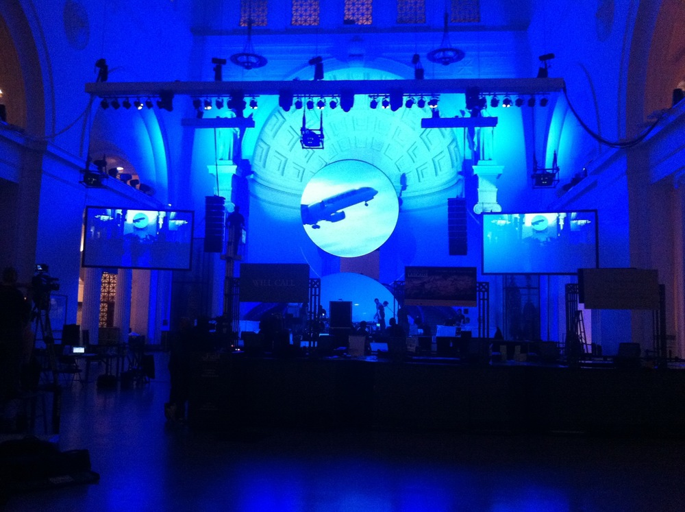 Music Producer and Guest DJ for Qatar Airlines launch event at Field Museum Chicago. Set Up photo.