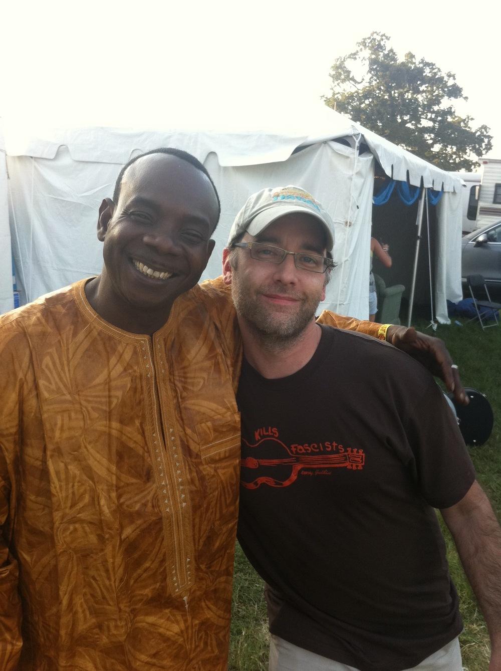 With Malian Kora player Toumani Diabate